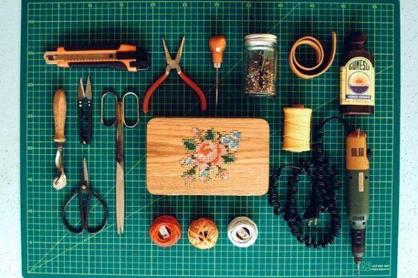 Bolsos de madera - taller Grav Grav