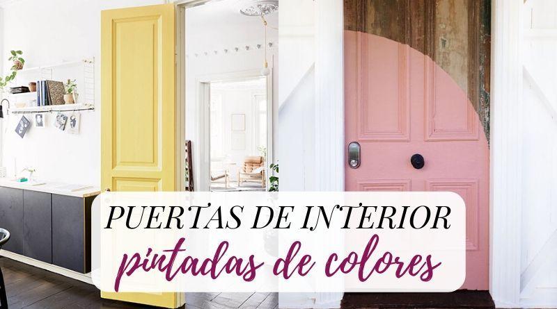 Puertas de interior pintadas de colores