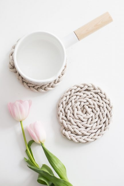 Salvamanteles de cuerda