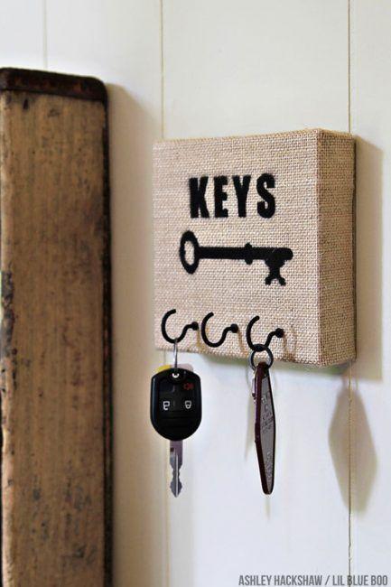 cuelga llaves originales en lienzo