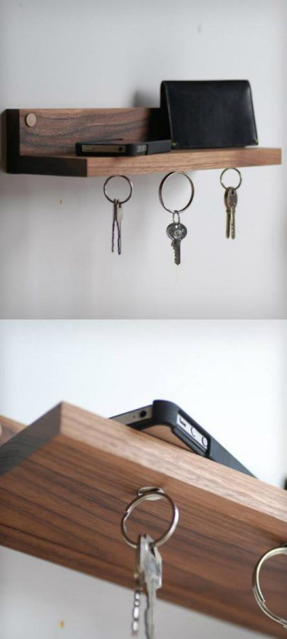 Cuelga llaves con imanes y forma de balda