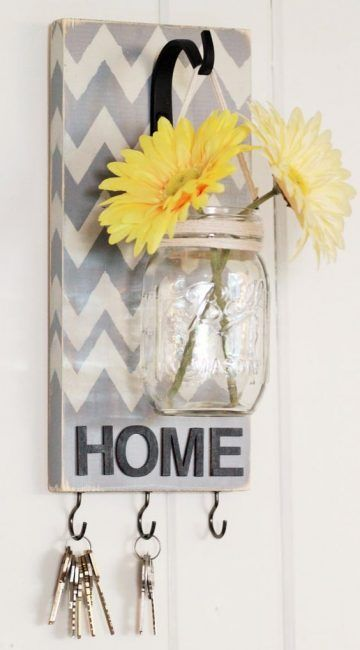 Cuelga llaves con flor
