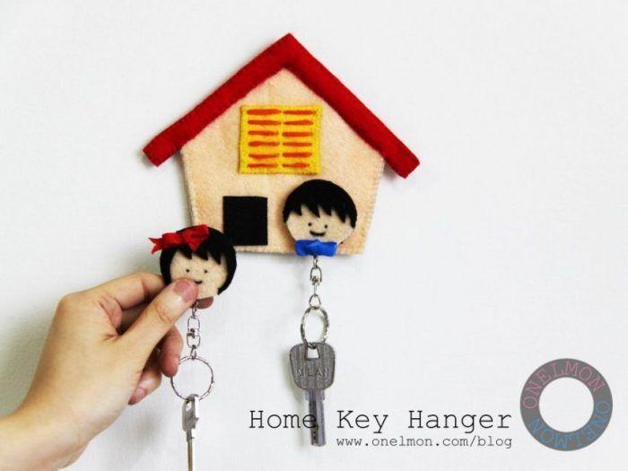 Cuelga llaves con velcro