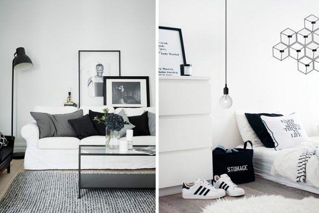 Decora tu hogar en blanco y negro 12