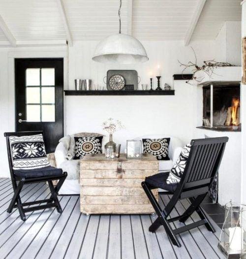 Decora tu hogar en blanco y negro 13