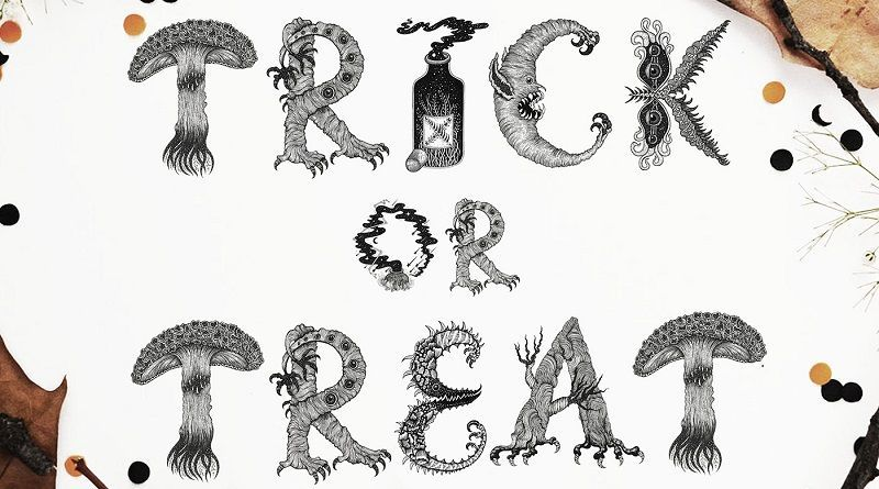 Letras de Halloween diseñadas por Meni Chatzipanagiotou – Tipografía