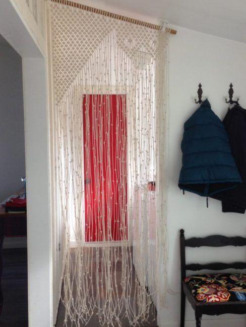 cortinas de macram para la separacin de ambientes