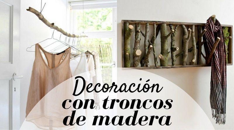 Decoraci n con troncos de madera la cartera rota - Tronco madera decoracion ...