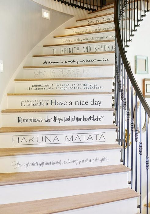 Decoración de escaleras interiores - frases