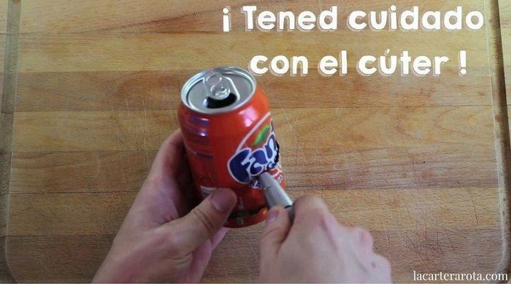 hacer palomitas con una lata de refresco