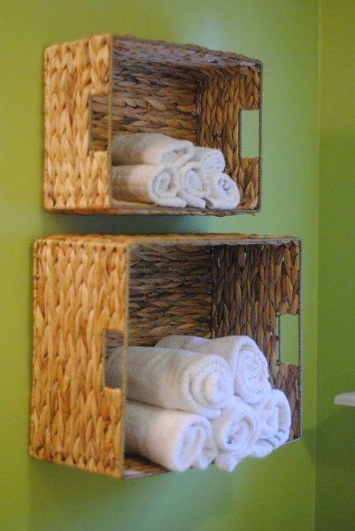 Ideas para baños pequeños - cajas