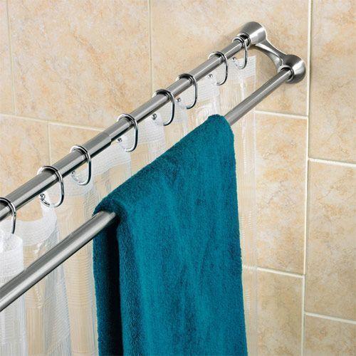 Ideas para ba os peque os tips para aprovechar el for Colgar toallas ducha