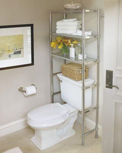 Ideas para baños pequeños - estantería váter