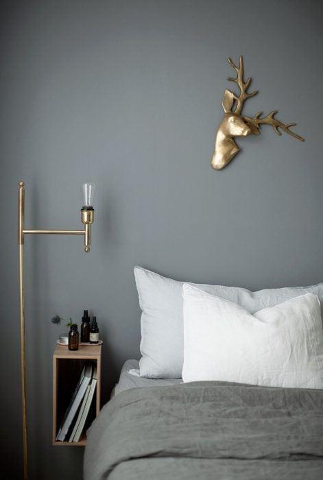 L mparas de mesita de noche 6 ideas para tu habitaci n - Mesitas de noche de pared ...