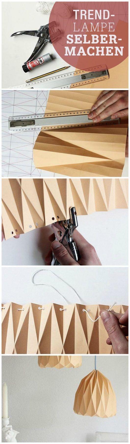 Cómo hacer una pantalla de lámpara de origami