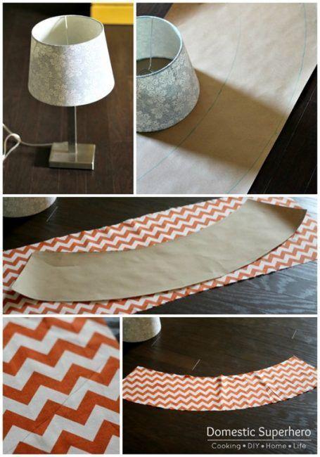 Cómo hacer una pantalla de lámpara con tela