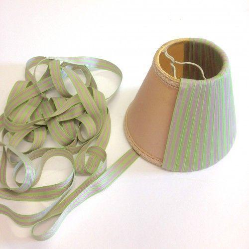 Pantalla de lámpara usando cinta