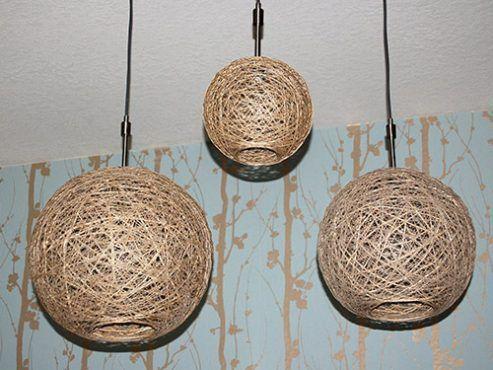 DIY lámparas de cuerda