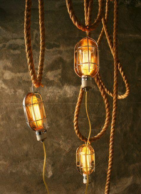 Lámparas de cuerda industrial