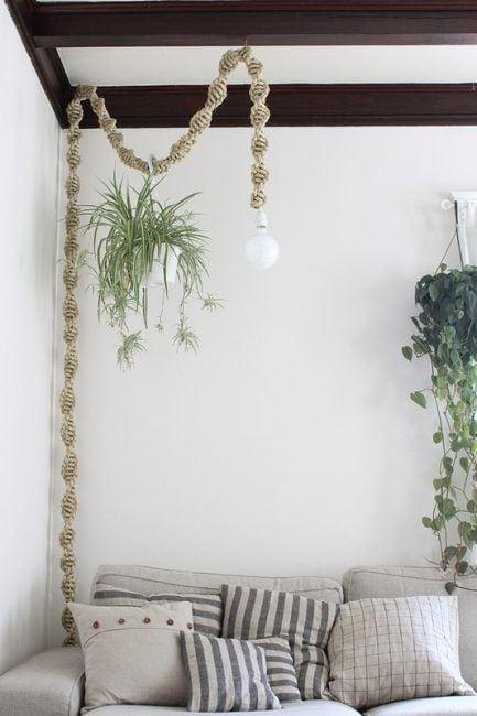 Lámparas de cuerda para techo