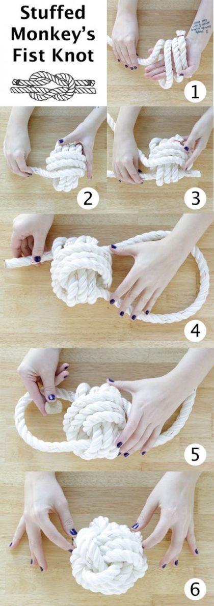 Forma de hacer nudo para lámparas de cuerda