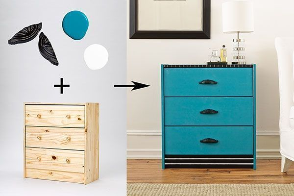 Cómo decorar una cómoda - pintura azul