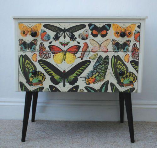 Cómo decorar una cómoda - mariposas