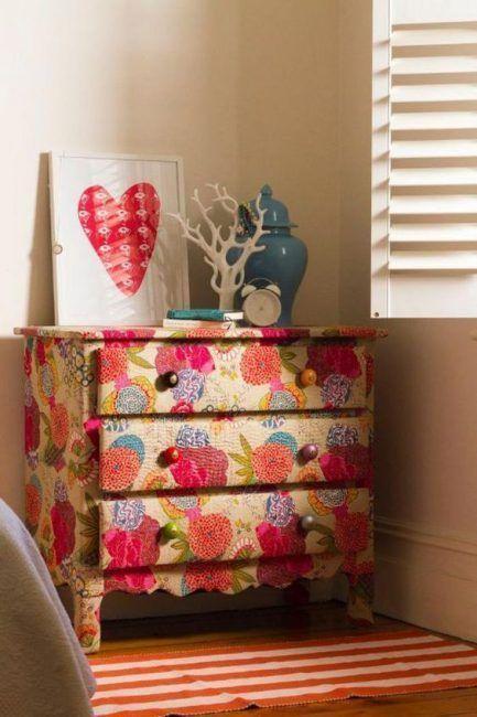 Cómo decorar una cómoda con tela