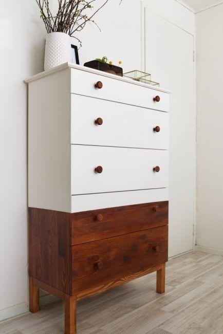 Cómo decorar una cómoda - blanco y marrón