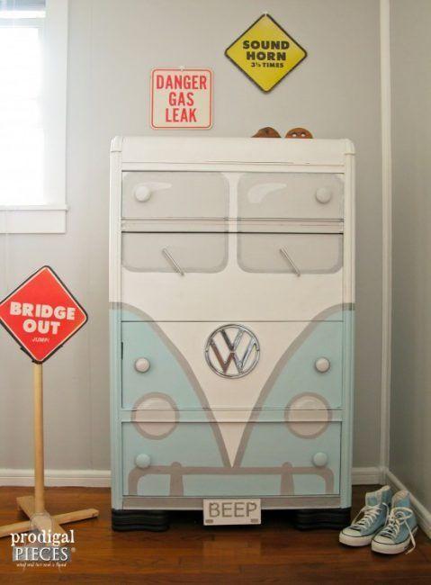 Cómo decorar una cómoda - furgoneta Volkswagen