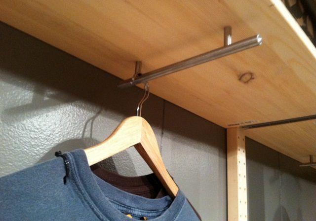 Decoración de pisos pequeños - colgar la ropa 2