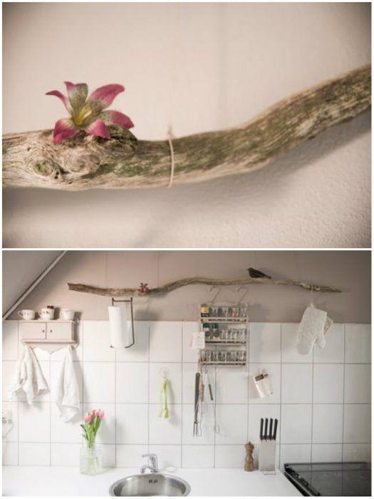 ramas de arboles para decorar cocina