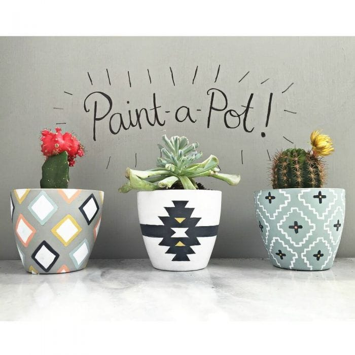 Decorar macetas con pintura decoraci n macetas pintadas - Ideas para colgar macetas ...