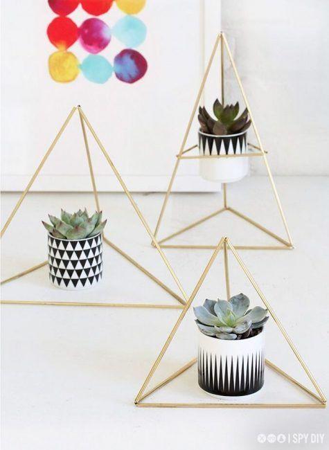 Diseño minimalista para pintar macetas