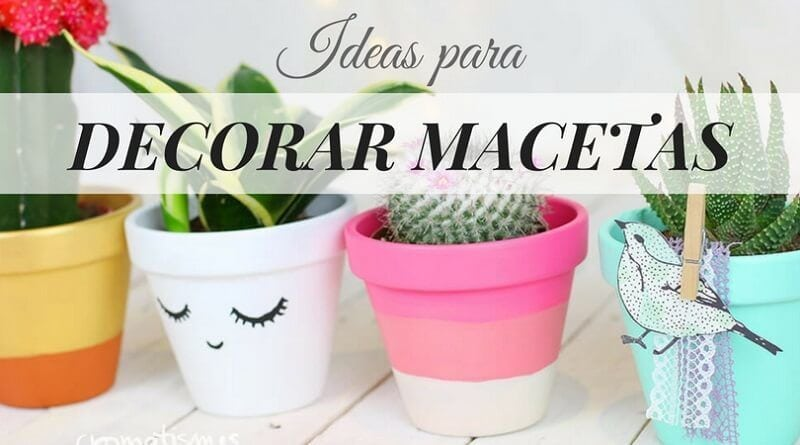 Decorar macetas con pintura