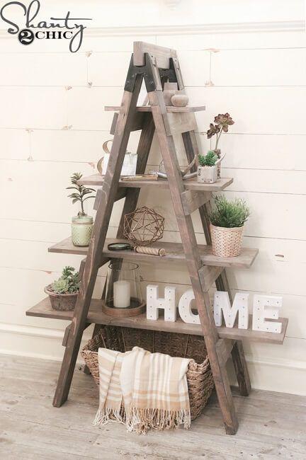 Escaleras de tijera para decorar
