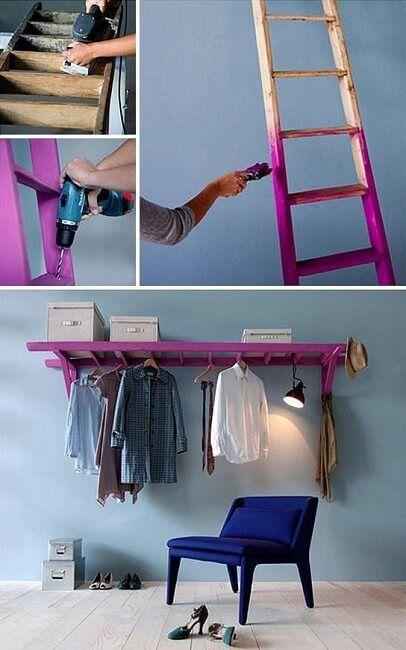 Cómo reciclar una escalera de madera