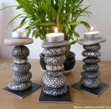 Manualidades con piedras de playa diys para decorar tu casa for Cuadros hechos con piedras