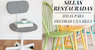 Sillas restauradas: 7 ideas para decorar una silla