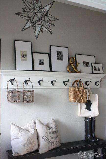 Cómo hacer un perchero de pared decorativo