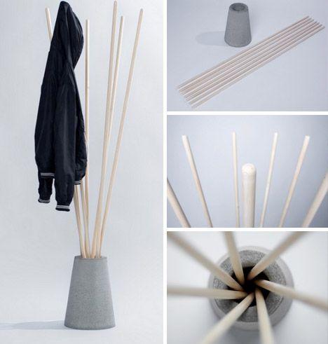 Cómo hacer un perchero de pie de manera sencilla