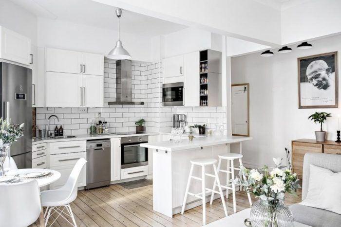 Decoración casas pequeñas usando colores claros