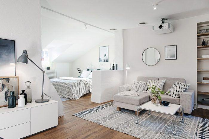 Decorar un apartamento pequeños usando tonos claros