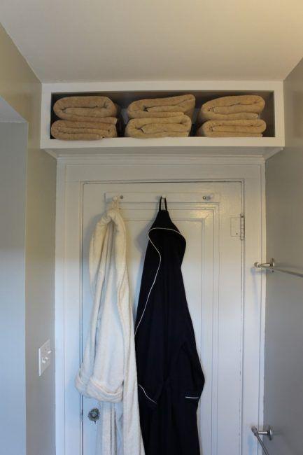 Como guardar las toallas en los baños pequeños