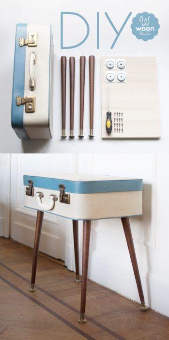Idea de decoración - reciclaje de una maleta