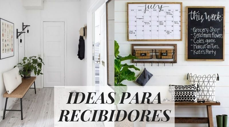 Ideas para recibidores haz que tu entrada sea totalmente - Ideas de recibidores ...