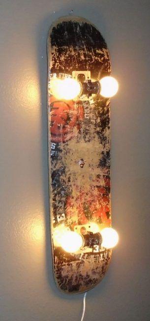Reciclaje creativo de un skateboard