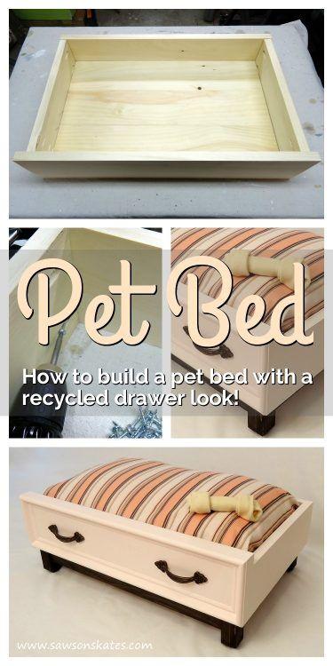 Reciclar cajón para hacer una cama de perro