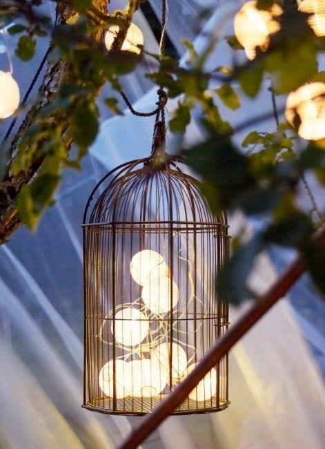 Bonita decoración con jaulas