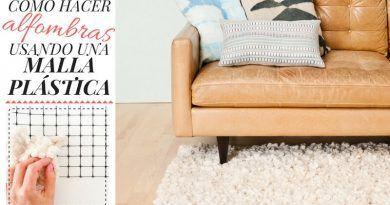 Cómo hacer alfombras usando una malla plástica